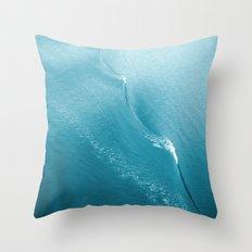 Ripple in Time (aqua) Throw Pillow