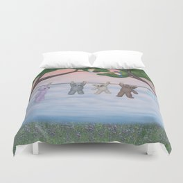 meadow fresh teddy bears Duvet Cover