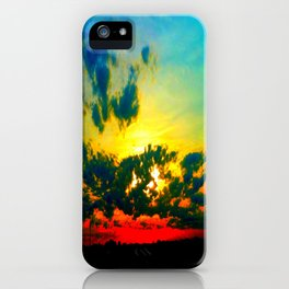 Curdled Clouds iPhone Case