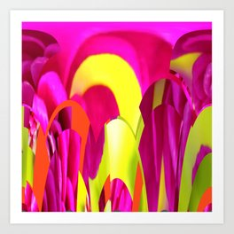 Flowers abstract Art Print