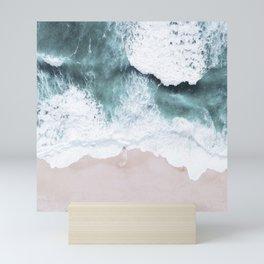 Blue Ocean And White Foam Seashore Mini Art Print