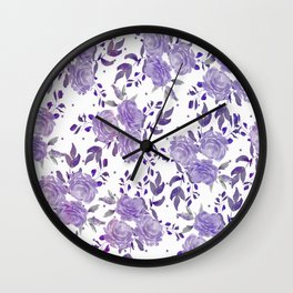 Bouquet of Purple Roses Wall Clock