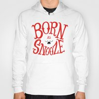 onesie Hoodies featuring Born to Snooze by Chris Piascik
