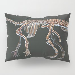 Iguanodon Bernissatnis Skeleton Study (No Labels) Pillow Sham