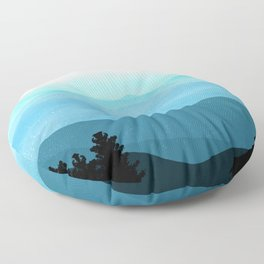 The Great Smoky Mountains Floor Pillow