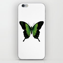 Green Butterfly iPhone Skin