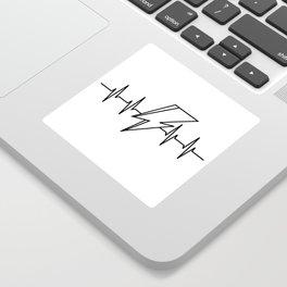 Bowie Heartbeat Sticker