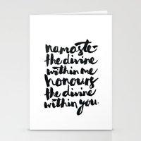 namaste Stationery Cards featuring Namaste  by Alisha Brunton