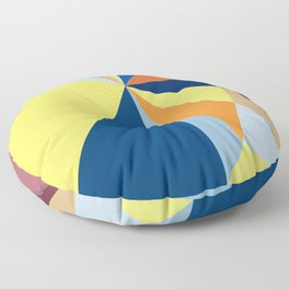 abstract pattern geometric triangle mosaic background low poly style Floor Pillow