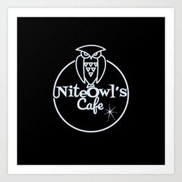 Nite Owl's Cafe Art Print