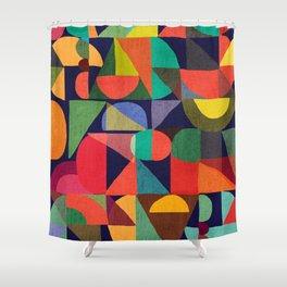 Color Blocks Shower Curtain