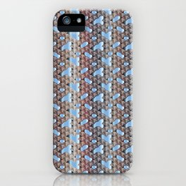 Traditional Japanese pattern YABURE-SEIGAIHA iPhone Case