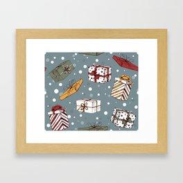 Chritmas gifts pattern Framed Art Print