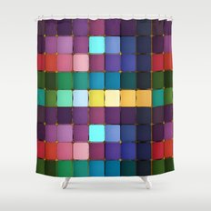 Colored Blocks Shower Curtain