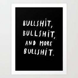 Black | Quotes | White | Bull | Pillows Art Print