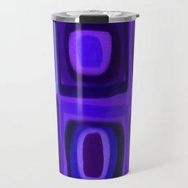 Violets in Blue Windows Travel Mug