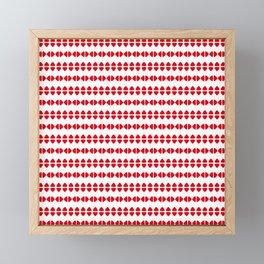 Christmas Pattern White Red 1 Framed Mini Art Print