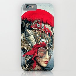 Steampunk Girl iPhone Case