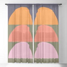 Spring- Pantone Warm color 03 Sheer Curtain