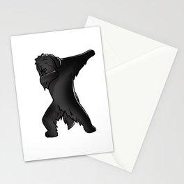 Funny Dabbing Newfoundland Dog Dab Dance Stationery Cards