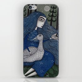 The White Duck iPhone Skin
