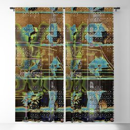 Glitch Cabinet Blackout Curtain