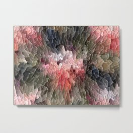 Abstract In Pink, Black And Green Metal Print