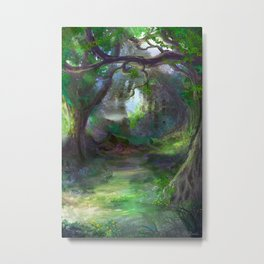 Elven Forest Metal Print