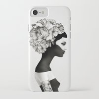fashion illustration iPhone & iPod Cases featuring Marianna by Ruben Ireland