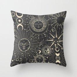 Mystic patterns Throw Pillow