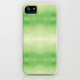 Mozaic design in soft green colors iPhone Case