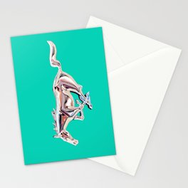 vintage teal Mustang .... Stationery Cards