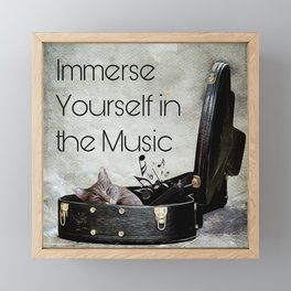 Milonga Cat - Immerse Yourself in the Music Framed Mini Art Print