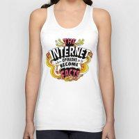 internet Tank Tops featuring The Internet. by Chris Piascik