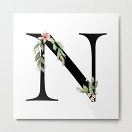 Botanical N Metal Print