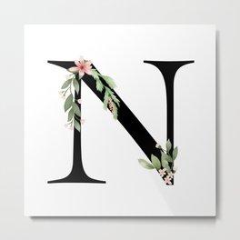 Botanical N Metal Print