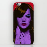 emma stone iPhone & iPod Skins featuring Emma Stone by Bolin Cradley Art