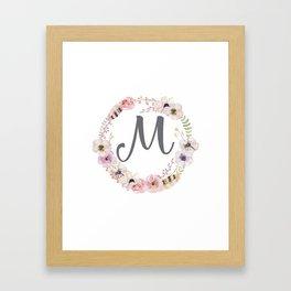 Floral Wreath - M Framed Art Print