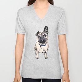 Cito the Pup  Unisex V-Neck