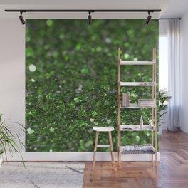 Green glitter Wall Mural