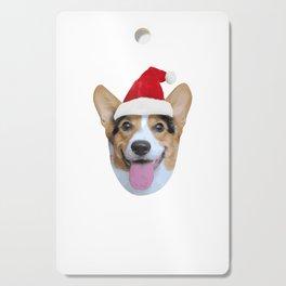 Merry Corgmas Merry Christmas Corgi Dog Santa Hat Cutting Board