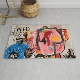 """The speed of life"" Street art graffiti and art brut Rug"