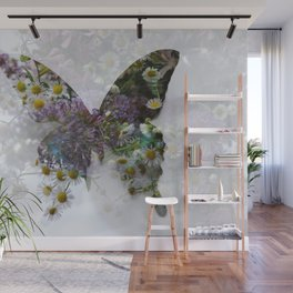 Beautiful floral butterfly Wall Mural