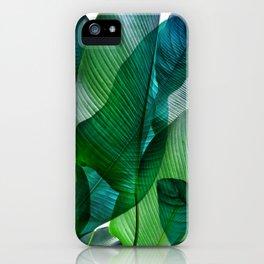 Palm leaf jungle Bali banana palm frond greens iPhone Case