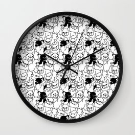 Oh Frenchie Wall Clock