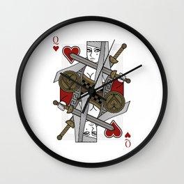 Omnia Illumina Queen of Hearts Wall Clock