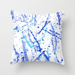 Eclats bleus Throw Pillow