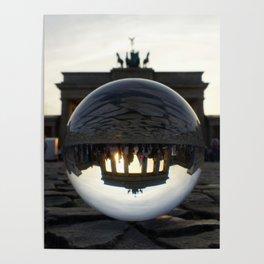 Brandenburg Gate, Berlin Germany / Glass Ball Photography Poster