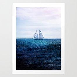 Sailing Ship on the Sea Art Print