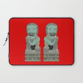 Lion Statues Laptop Sleeve